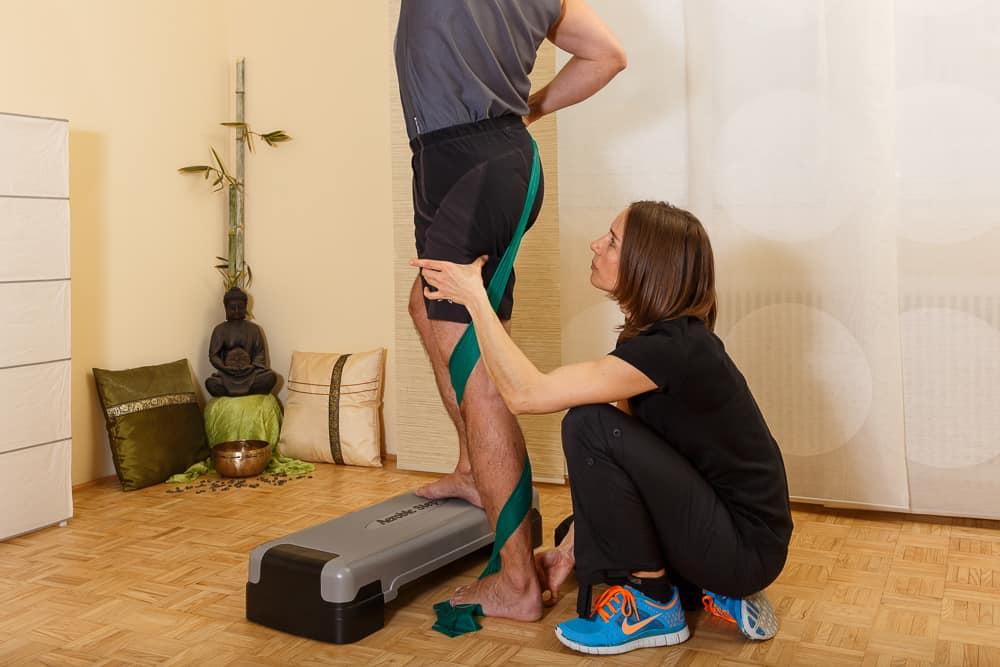 Physiotherapie Beinachsentraining Spiraldynamik Mödling