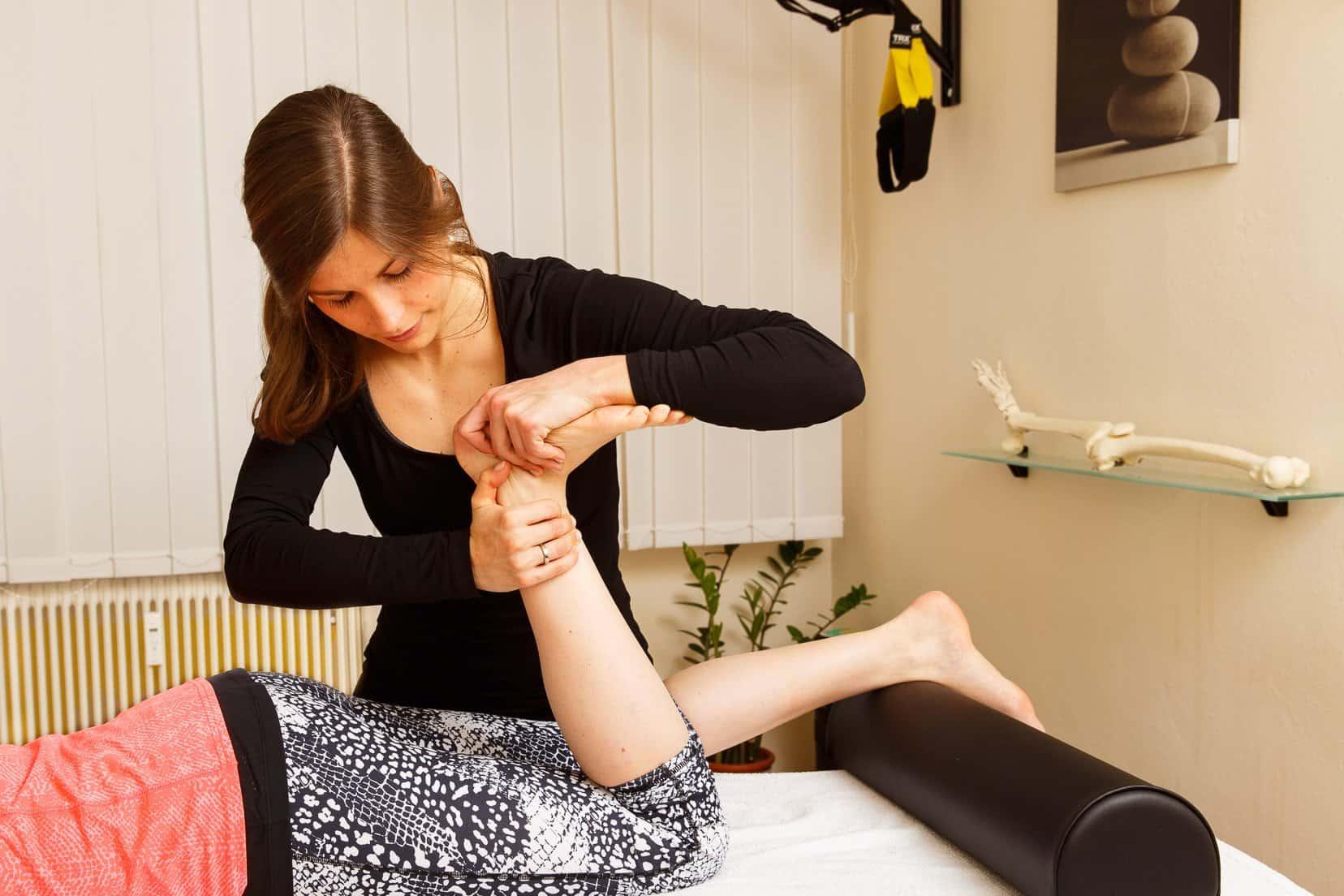 Physiotherapie Mobilisation Sprunggelenk Gemeinschaftspraxis Mödling